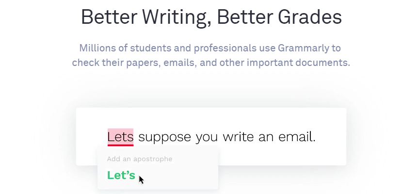 Grammarly Free Grammer Checker Tool