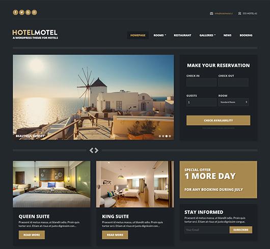 HotelMotel CSSIgniter Theme
