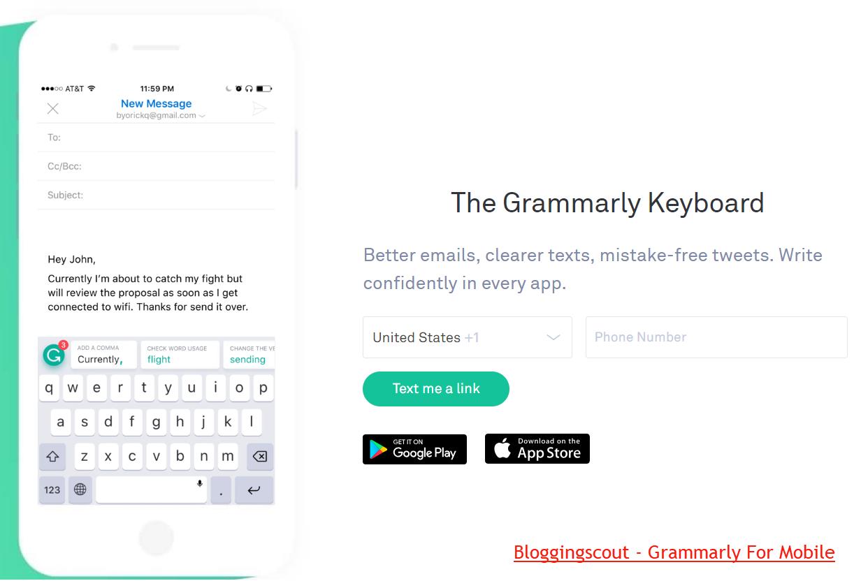 Grammarly Mobile Keyboard
