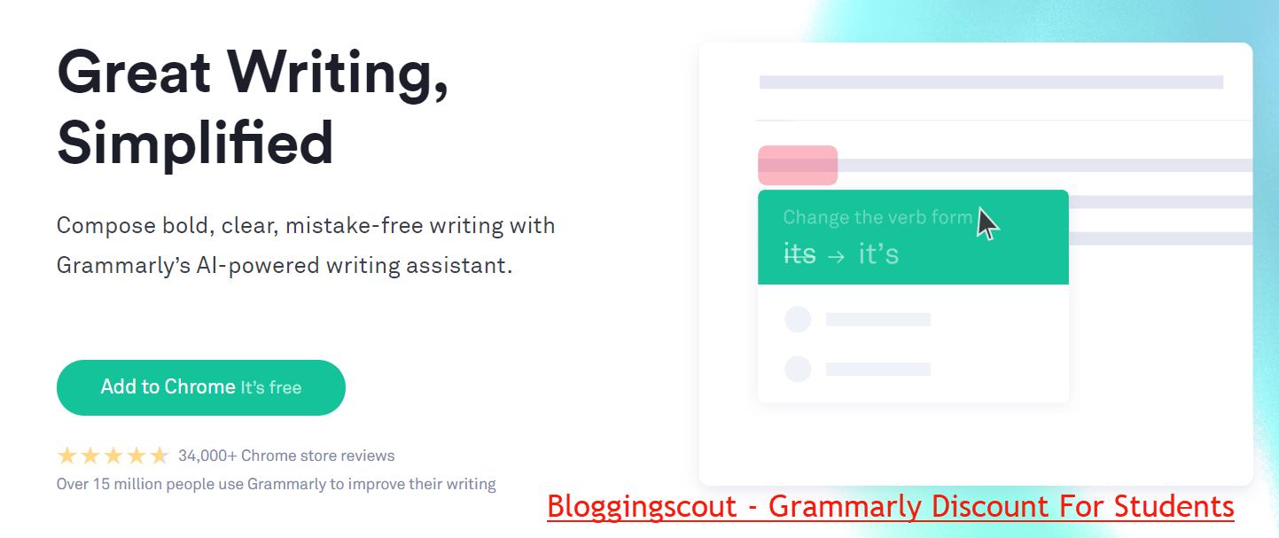 Grammarly Grammar Checker Discount