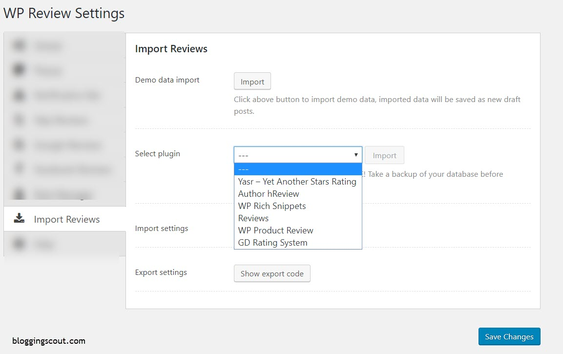 Importing Reviews with WP Review Pro