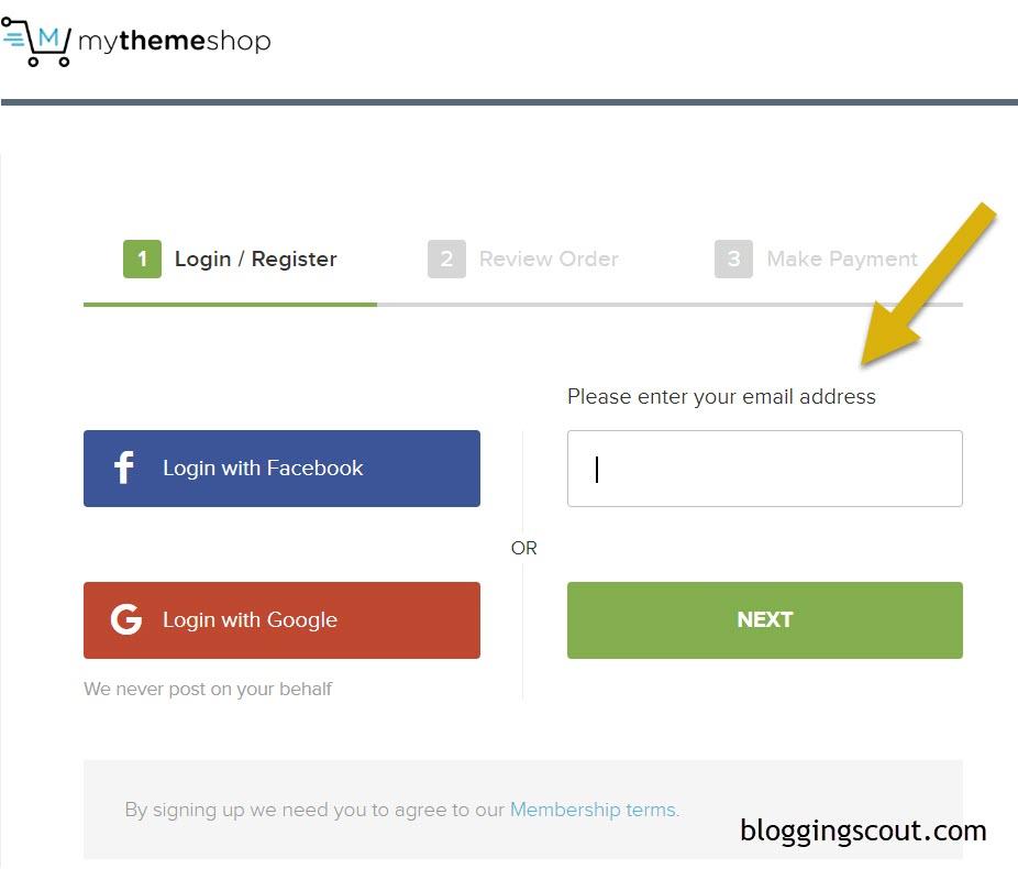 Register for MyThemeShop