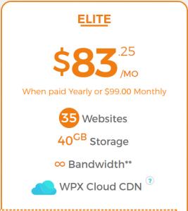 WPX Hosting Elite Plan